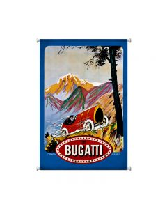 Bugatti Red, Automotive, Giclee Printed Canvas, 25 X 38 Inches