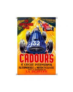 Cadours Circut, Automotive, Giclee Printed Canvas, 25 X 38 Inches