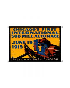 Chicago 500, Automotive, Giclee Printed Canvas, 38 X 25 Inches