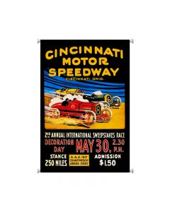 Cincinnati Speedway, Automotive, Giclee Printed Canvas, 25 X 38 Inches