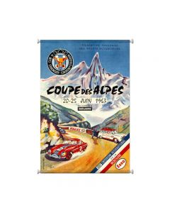 Coupe Des Alpes, Automotive, Giclee Printed Canvas, 25 X 38 Inches