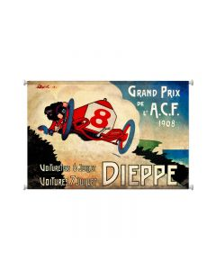 Dieppe Grand Prix, Automotive, Giclee Printed Canvas, 38 X 25 Inches