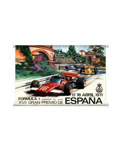 Espana Grand Prix, Automotive, Giclee Printed Canvas, 38 X 25 Inches
