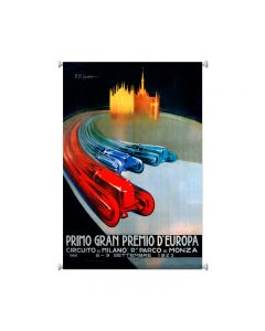 Europe Grand Prix, Automotive, Giclee Printed Canvas, 25 X 38 Inches
