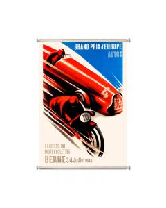 Europe Grand Prix, Automotive, Giclee Printed Canvas, 25 X 36 Inches