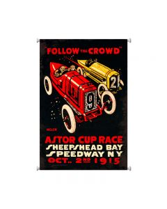 Follow The Crowd, Automotive, Giclee Printed Canvas, 25 X 36 Inches