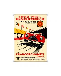 Francorchamps, Automotive, Giclee Printed Canvas, 25 X 36 Inches