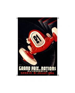 Geneva Grand Prix, Automotive, Giclee Printed Canvas, 25 X 36 Inches