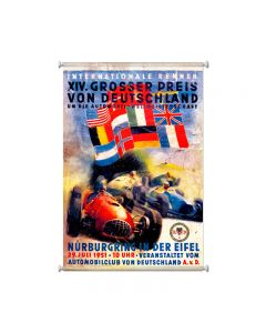 German Grand Prix, Automotive, Giclee Printed Canvas, 25 X 36 Inches