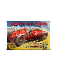 Gran Premio Europa, Automotive, Giclee Printed Canvas, 25 X 36 Inches
