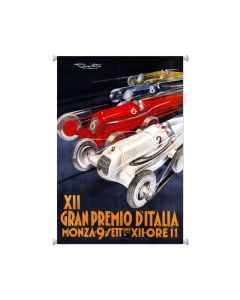 Gran Premio Italia, Automotive, Giclee Printed Canvas, 25 X 36 Inches