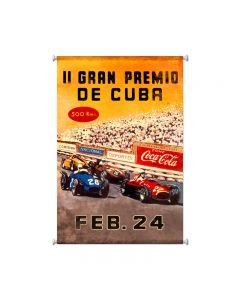 Grand Premio Cuba, Automotive, Giclee Printed Canvas, 25 X 36 Inches