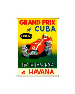 Grand Prix Havana, Automotive, Giclee Printed Canvas, 25 X 36 Inches