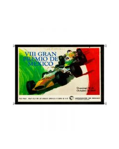 Grand Prix Mexico, Automotive, Giclee Printed Canvas, 25 X 36 Inches