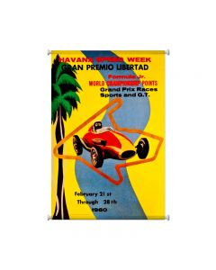Havana Speed Week, Automotive, Giclee Printed Canvas, 25 X 36 Inches