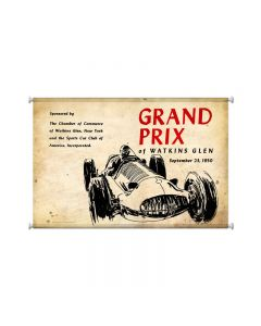 Watkins Grand Prix, Automotive, Giclee Printed Canvas, 25 X 36 Inches