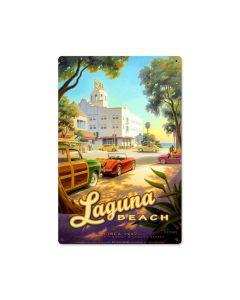 Laguna Beach, Sports and Recreation, Metal Sign, 12 X 18 Inches