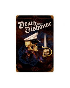 Death Before Dishonor, Allied Military, Vintage Metal Sign, 18 X 12 Inches