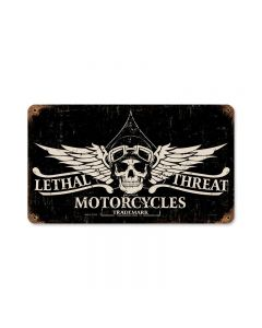 Lethal Motorcycles, Motorcycle, Vintage Metal Sign, 14 X 8 Inches