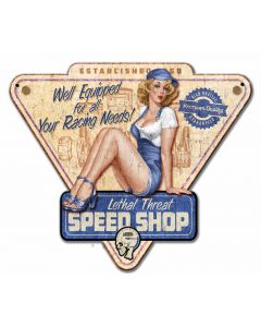 Speed Shop, , Custom Metal Shape, 14 X 12 Inches