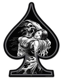 Spade Reaper Girl, , Custom Metal Shape, 18 X 24 Inches