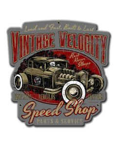 Vintage Velocity, , Custom Metal Shape, 15 X 16 Inches