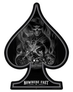 Spade Nowhere Fast, , Custom Metal Shape, 18 X 24 Inches