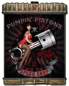 Radiator Pumpin Pistons, Featured Artists/Lethal Threat, Plasma, 24 X 32 Inches