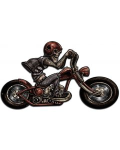 Skull Biker Right, Featured Artists/Lethal Threat, Plasma, 24 X 14 Inches