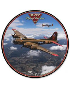 B-17 Flying Fortress, Featured Artists/All American Art by Larry Grossman, Satin, 28 X 28 Inches