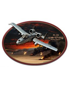 3-D A-10 Warthog, Featured Artists/All American Art by Larry Grossman, Plasma, 20 X 13 Inches