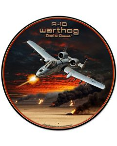 A-10 Warthog, Featured Artists/All American Art by Larry Grossman, Round, 28 X 28 Inches