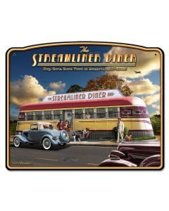 Streamliner Diner, Automobile, Plasma, 18 X 15 Inches