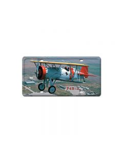 F4B-3, Aviation, License Plate, 6 X 12 Inches