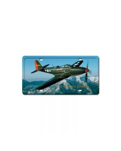 P-63 King Cobra, Aviation, License Plate, 6 X 12 Inches