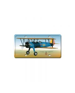 Stearman, Aviation, License Plate, 6 X 12 Inches