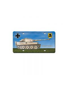 V1 Tiger Tank, Axis Military, License Plate, 6 X 12 Inches