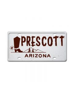 Prescott, Travel, License Plate, 12 X 6 Inches