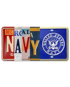 Seal Of The U.S. Dept Of The Navy, License Plates,  LICENSE PLATE , 12 X 6 Inches