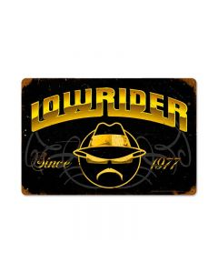 Lowrider Since 1977, Automotive, Vintage Metal Sign, 18 X 12 Inches