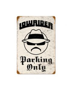 Lowrider Parking, Automotive, Vintage Metal Sign, 12 X 18 Inches