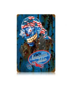 American Idle, Motorcycle, Vintage Metal Sign, 12 X 18 Inches