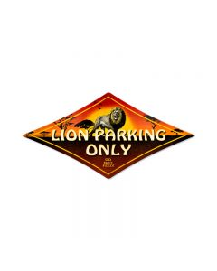 Lion Parking, Street Signs, Diamond Metal Sign, 14 X 24 Inches