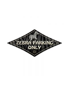 Zebra Parking, Street Signs, Diamond Metal Sign, 14 X 24 Inches