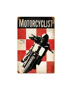 18933, Motorcycle, Vintage Metal Sign, 12 X 18 Inches