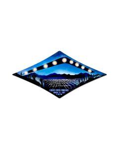 Phoenix Lights, Humor, Diamond Metal Sign, 22 X 14 Inches