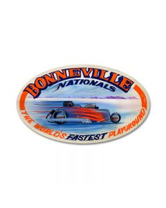 Bonneville Nationals, Automotive, Oval Metal Sign, 24 X 14 Inches
