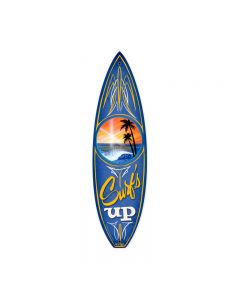 Surfs Up, Sports and Recreation, Surfboard Metal Sign, 6 X 22 Inches