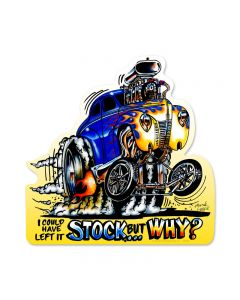 Left It Stock, Automotive, Custom Metal Shape, 17 X 17 Inches