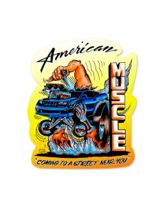 American Muscle, Automotive, Custom Metal Shape, 15 X 18 Inches